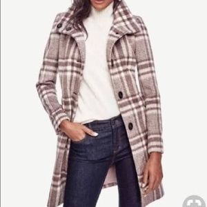 Like New Ann Taylor Brushed Plaid Coat